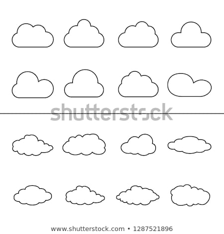 Hand-drawn clouds collection - set of vector linear elements Stock photo © Decorwithme