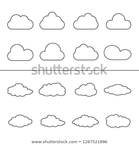 Nuvens coleção conjunto vetor linear elementos Foto stock © Decorwithme