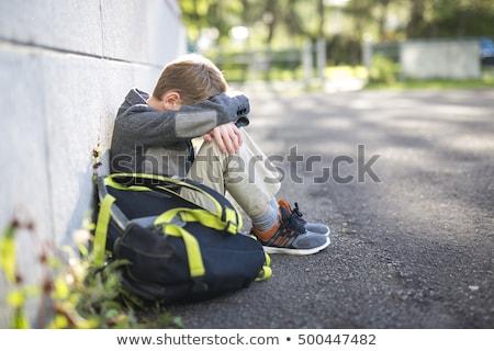 печально одиноко мальчика школы площадка стороны Сток-фото © Lopolo