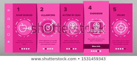 Goal Target Purpose Onboarding Elements Icons Set Vector Stock photo © pikepicture