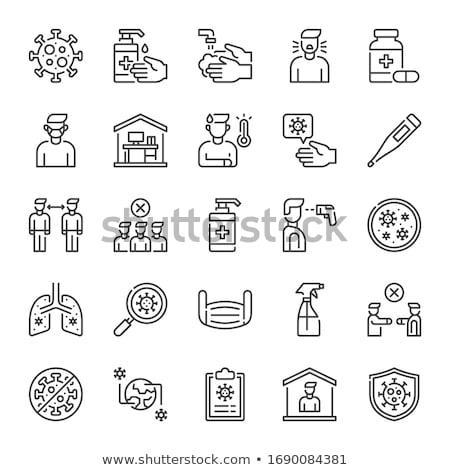Infectie icon vector schets illustratie teken Stockfoto © pikepicture