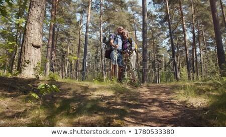 Ludzi spacer wraz parku starych para chodzić Zdjęcia stock © robuart