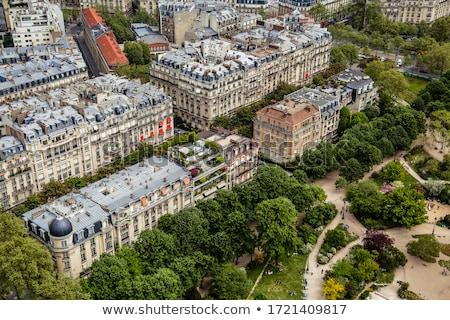 Parijzenaar tuinen historische architectuur straten Parijs Frankrijk Stockfoto © Anneleven