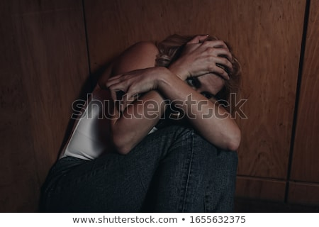 Scared Woman Hiding Stock photo © AndreyPopov