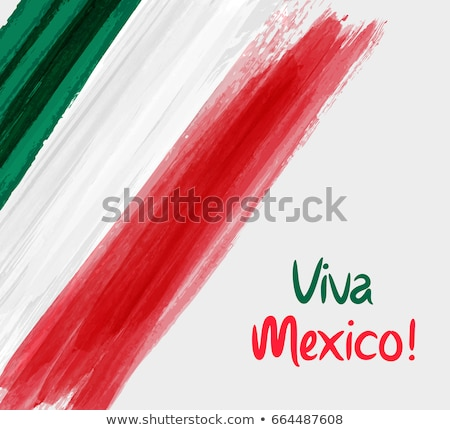 Mexican flag, vector illustration on a white background Stock photo © butenkow