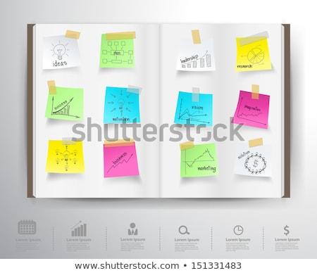 Design graphique notepad ampoule idée créativité léger Photo stock © yupiramos