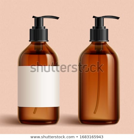Blank label shampoo bottle or shower gel on pink background, beauty product and body care cosmetics Stock photo © Anneleven