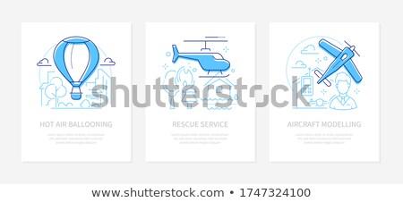 Légitársaság közlekedés vonal terv stílus bannerek Stock fotó © Decorwithme