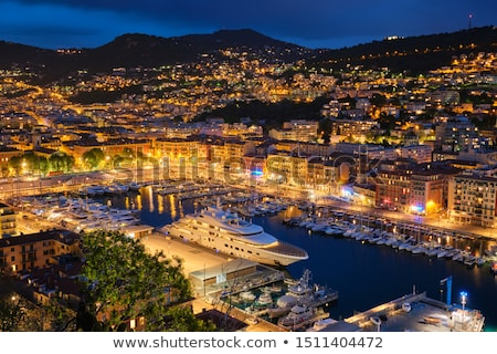 View of Old Port of Nice with yachts, France in the evening Stock photo © dmitry_rukhlenko