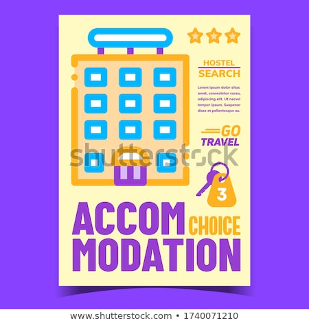 Accommodation Choice Creative Promo Banner Vector Stock photo © pikepicture