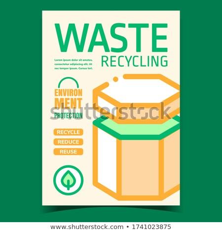 Szemét újrahasznosítás promóciós prospektus poszter vektor Stock fotó © pikepicture