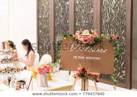 Buquê de casamento família tabela casamento rosa Foto stock © ruslanshramko