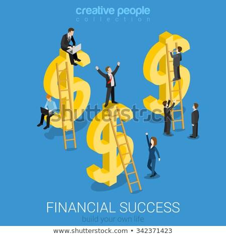 Finansowych znak dolara izometryczny ikona wektora Zdjęcia stock © pikepicture