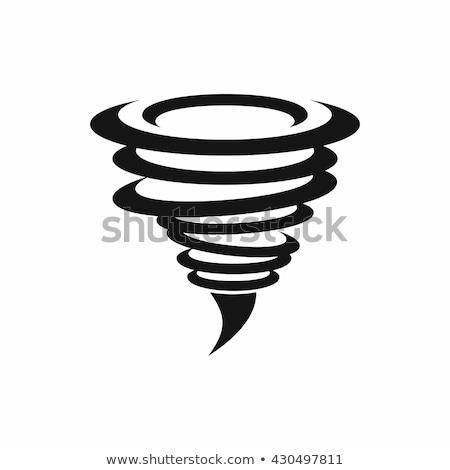 Tornádó ikon oszlop izolált segítség biztonság Stock fotó © sahua