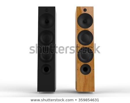 wooden loud speaker stock photo © hermione