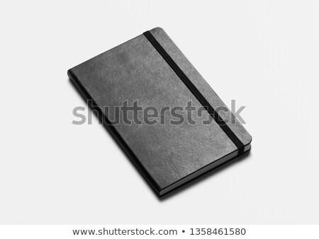 дневнике отмечает пер открытых внутри книга Сток-фото © Rebirth3d