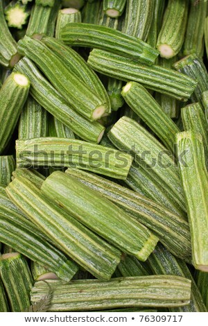 Fresh Roman zucchinis with flowers on display at an Italian farm Stock photo © lightpoet