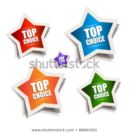 Star bubble speech with Best Choice motive Stock photo © DavidArts