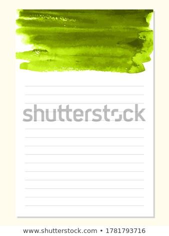 Levélpapír zöld izolált fehér iroda könyv Stock fotó © adamson