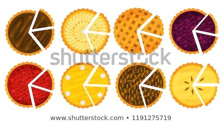 チーズケーキ · ナッツ · プレート · 孤立した · 光 - ストックフォト © zybr78