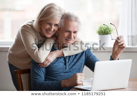 Casal laptop computador amor feliz Foto stock © photography33