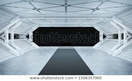 White Corridor Stock photo © sdecoret