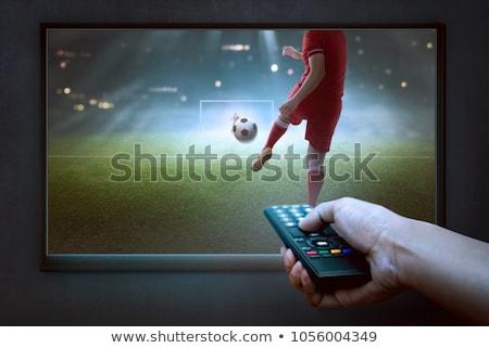 Controle televisie voetbal hand Stockfoto © REDPIXEL