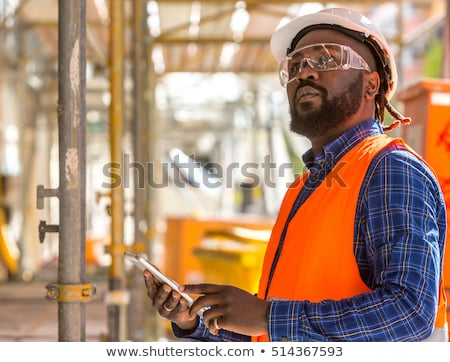 construction worker wearing reflective jacket stock photo © photography33