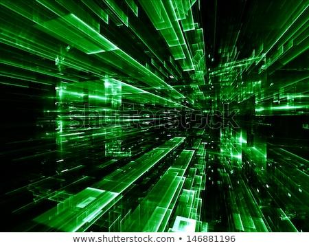 abstract · buio · verde · tecnica · blu · luogo - foto d'archivio © 72soul