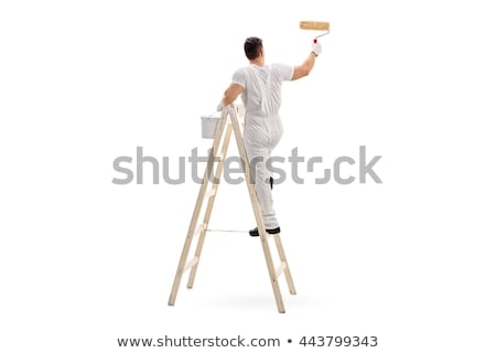Painter climbing up ladder Stock photo © photography33