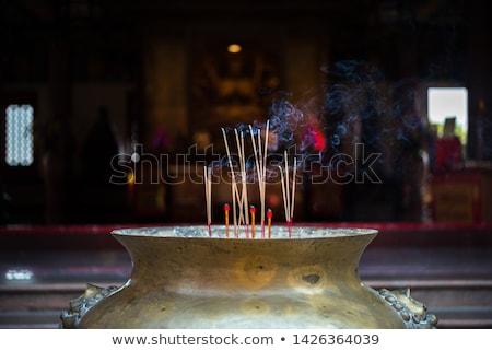 Színes tömjén buddhista művészet utazás pihen Stock fotó © bbbar