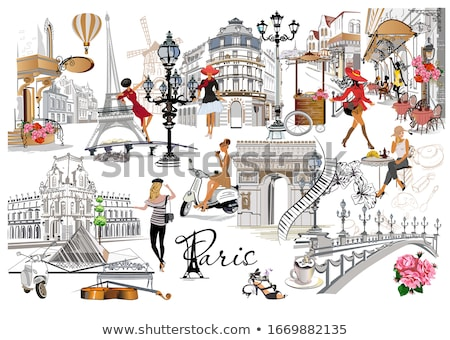 Paris · France · espace · texte · image · bleu - photo stock © ilolab