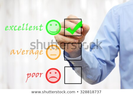 customer survey or poll excellent good average poor stock photo © bbbar