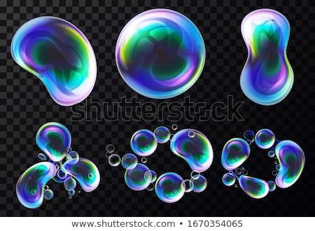 iridescent foam closeup Stock photo © prill