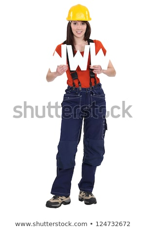 Tradeswoman promoting technological advancement Stock photo © photography33