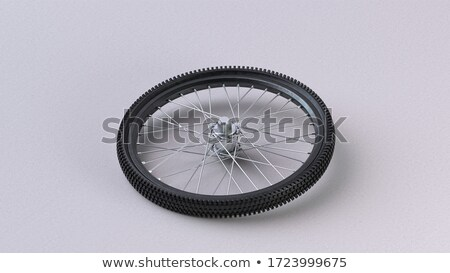 Bike wheel protector isolated on white Stock photo © shutswis