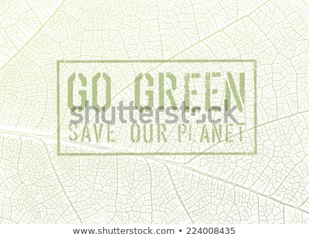 Abstract Eco Care Leaf Concept Foto stock © pashabo