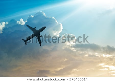 fast airplane in the sky stock photo © haiderazim