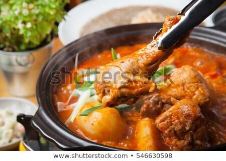 Chicken Stew in Pot  Stock photo © zhekos