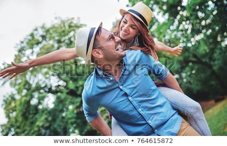 Young couple enjoying a moment of tenderness Stock photo © photography33
