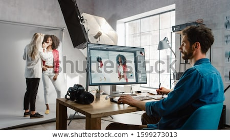 Montage of a young woman applying makeup Stock photo © photography33