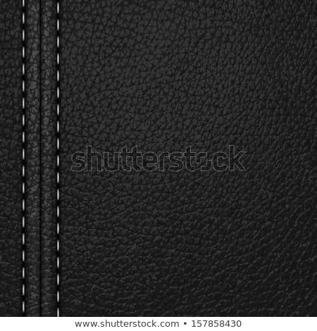 Grey frame stitched leather background Stock photo © Arsgera