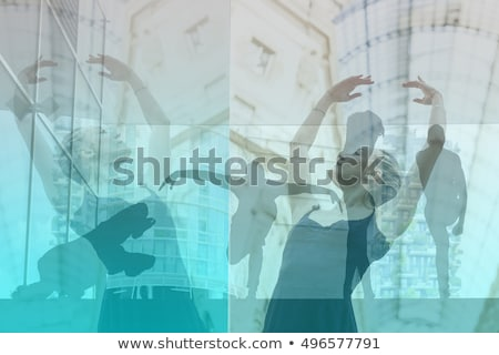 Multiple Exposure Image of Ballerina Dancer Stock photo © tobkatrina