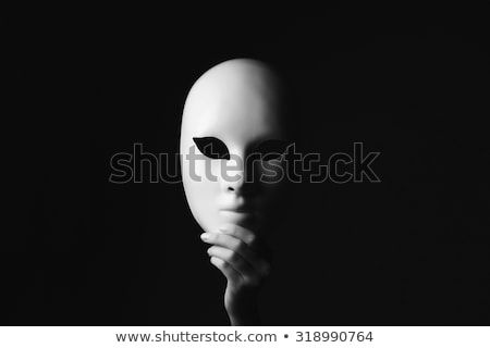 Mistero femminile maschera foto isolato Foto d'archivio © Anna_Om