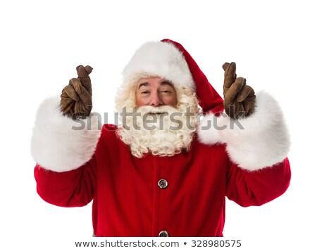 Santa Claus is wishing Good luck Stock photo © marinini