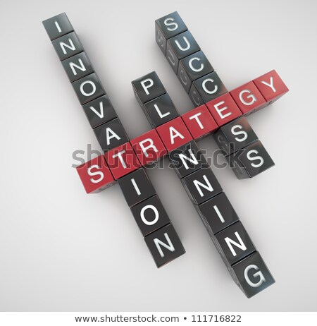 strategy concept crosswords stock photo © raywoo