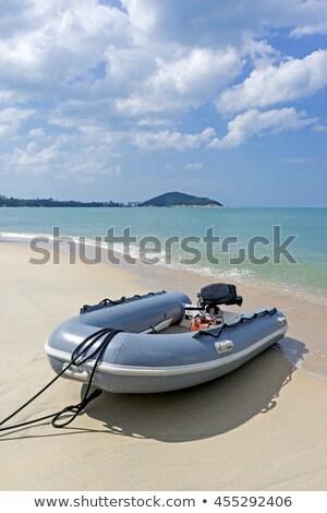 grey inflatable boat Stock photo © ssuaphoto