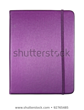 silk purple color cover note book isolated on white background Stock photo © ozaiachin