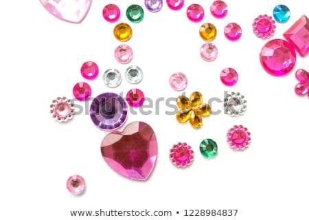 Forma cuore rosa colore design romance Foto d'archivio © 3523studio