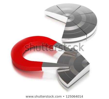 gaining market share, pie chart horseshoe magnet Stock photo © olivier_le_moal